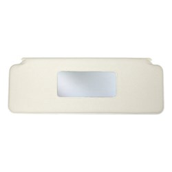 Sun Visor w/ Mirror, 1970-on, White