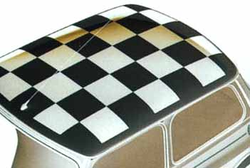 Checkerboard Roof Decal, White