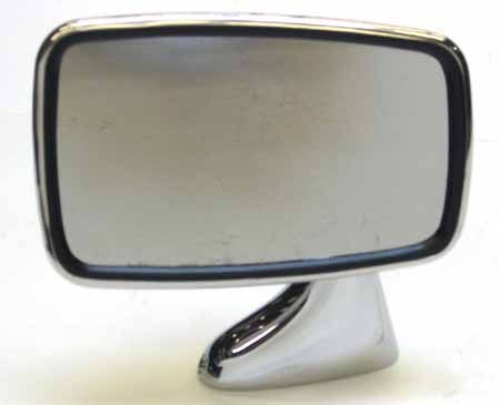 Door Mirror, Chrome, Convex Glass
