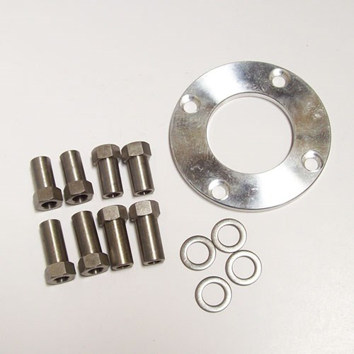 Stainless steel sleeve nuts, washers & spacers (included)