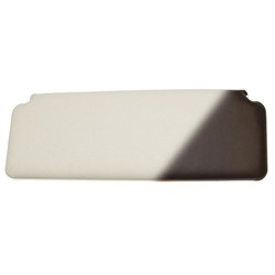 Sun Visor, Plain, White/Black Back, 1970-on