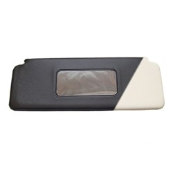 Sun Visor w/ Mirror, 1970-on, White w/ Black Back