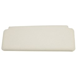 Sun Visor, Plain, White, 1970-on