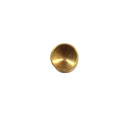 "Oil galley plug, brass, 0.50"" - cupped side"