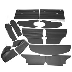 Interior Panel Kit, Mk3, 1970-73 Black