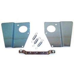 Heat Shield Kit, twin HS4, stainless