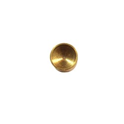 Oil galley plug, brass, 0.50? - cupped side