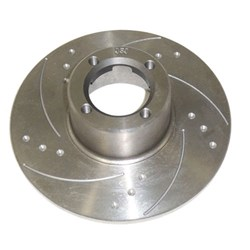 "Brake Rotor, 8.4"", dimpled & slotted"